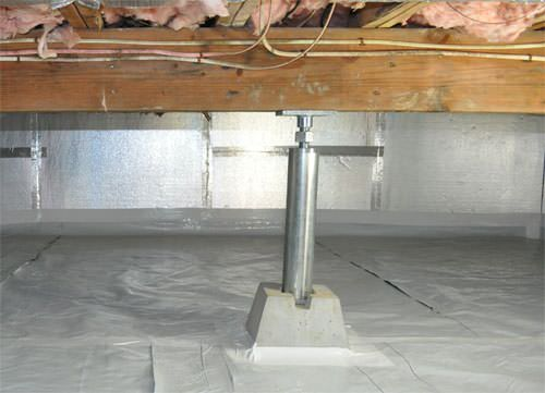 Crawl space products in greater fayetteville ar drainage for Basement floor jack lowes