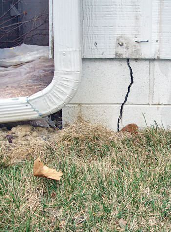 foundation wall cracks due to street creep in Clarksville