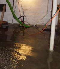 Several feet of floodwaters in a Ozark basement